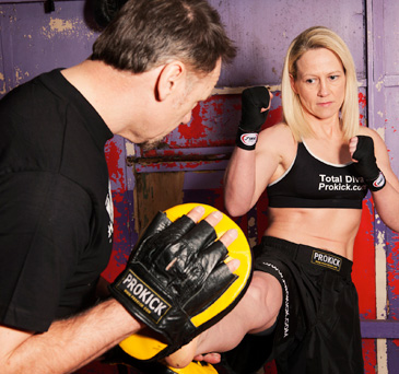 Kickboxing Pad Work for Boot Camp