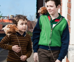 Riley Hamilton (Left) from Bangor & Aaron Lynch were brothers in the movie Boogaloo and Graham which is nominated for the 2015 EE British Academy Film Awards