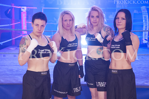 The Total Diva ProKick LadyKillers - L-R Ruth, Cathy, Samantha and Rowena all ready for action.