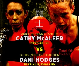 Made in ProKick - Cathy McAleer (Belfast) Vs Dani Hodges (England) in Belfast at the Holiday Inn
