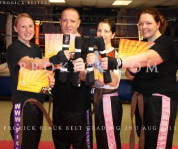 ProKick Gym grading - well done to all who took part on Sunday Aug 2nd 2015