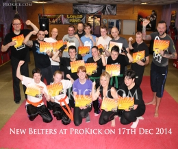 It was graduation day for some of ProKick's enthusiastic children and Adults at Belfast's top kickboxing and fitness centre for the last Grading in 2014