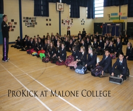Well done to all the students at Malone College who took part at the ProKick kickboxing day. And a BIG thanks to the teachers who helped organise this great day
