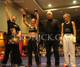 Total Diva - Cathy mcAleer lifts the WKN European Full-Contact kickboxing crown