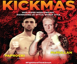 #WKN Pro-Am Super-Middleweight world champion Darren McMullan will face tough Polish fighter Lukasz Paprocki on Dec 6th at the Clayton Hotel #Belfast