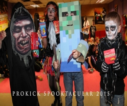Halloween FUN DAY competition at proKick - There were prizes for the best costumes with and a goodie bag for every ProKick Kid.