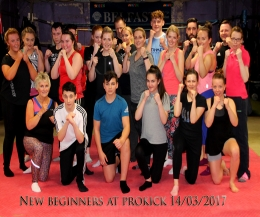 ​#Welcome to the #ProKickGym #NewBeginners Tuesday 14th March 2017