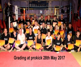 Well done, It was a special grading day for a selected few at the ProKick school of kickboxing excellence