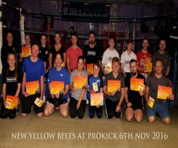 The new Belters from #beginners to #yellowbelt moved up the ladder of kickboxing excellence to the next level.