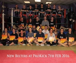 The new belters at ProKick - Check the time class schedule (below) for your new appropriate class. If the class times do not suit please revert back into your old slot and speak to Mr Murray about alternative class time times.