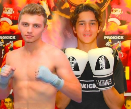 The two young men pictured here - these teenagers are now experienced young athletes - Aiden Borg Catania vs Killian Emery