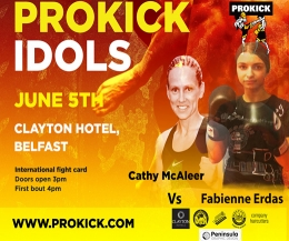 Cathy McAleer has a new challange, she now faces German, Fabienne Erdas in a catchweight contest.