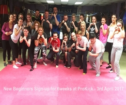 All the newcomers had their first taste of ProKick's no-nonsense approach to fitness, all ProKick kickboxing style - and it all kicked-off Monday 3rd April 2017.