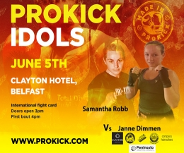 Samantha Robb face a 24 year-old Viking warrior, Janne Dimmen from Bergen on June 5th at the Clayton Hotel.