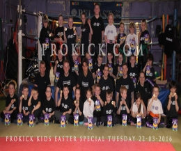 An Easter kickboxing FUN evening with everyone leaving with medals and chocolate eggs.
