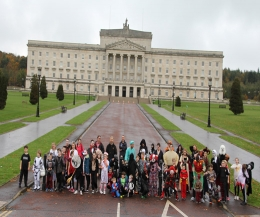 Stormont Parliament Buildings was the venue for another ProKick kickboxing Kids day out as the team roamed the grounds in true Halloween fashion.