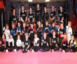 Kickboxing Kids team from ProKick - Pictured here are ProKick Kids as young as six years old who will have an opportunity to climb through the ropes in a well controlled light contact kids event this Saturday 17th Sept 2016