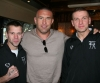 Gary Hamilton and Pawel Gorka with Jerome Le Banner