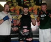 DYLAN SCALLY pictured here with james Gillen (left) and Poland's pawel Gorka training at ProKick