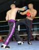 Darren McMullan landing a textbook hard right hand to French opponent Tajani Abdeljalil