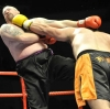 Edon Lands a big Left punch to the chin of Big James Gillen