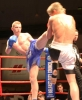 Mikey Shields in action against Mark Bird