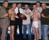 Picture from yesterday's Official Corsican Cup Press and weigh-ins - promotor Mr Toussaint Andarelli (centre) Presents the Corsica Cup 2008 main event