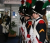 Kickboxers were welcomed onboard not by a whistle but drummed onboard by a guard of honor dressed in full Napoleonic wear
