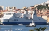 The press conference and weigh-ins took place onboard on a huge passenger cruise liner in the Bay of Ajaccio,