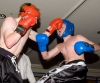 David Bird in punching action at the kickboxing Basm n Mash event when he faced Dylan Moran of Waterford.