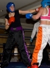 Ursula Agnew lands some punches to opponent Lean Carberry