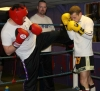 Cianan Magill Lands a Kick in Sparring to World champion Gary Hamilton
