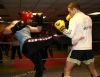 Mark Ferris sparring with world champion Gary Hamilton at ProKick