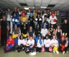 More new Kickboxing sparring wannbes pictured in the front rows with the fighters class making up the rear.