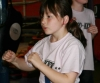 Chelsea Leight demonstrates some of her shadowboxing skills in the Prokick Says monthly competition