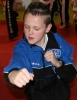 Dylan Lennox shadowboxing in the Prokick Says competition