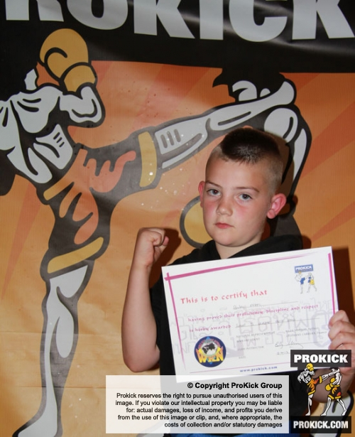 Young Mr Allen graded to purple belt on July 8th.