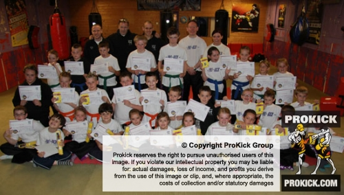 Part 1. the ProKick Kids strut their new belts this afternoon at the ProKick Gym