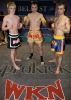 Three ProKick Kickboxing rising stars before their trip to Martigny - Mark Bird , Ian Young and Barrie Oliver
