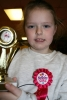 Queen of the her kickboxing club for the day - Katdie McAlees hits 8 years old.