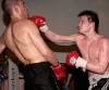 Mark Bird in action and  hits out with some nice punches to Daniel Zahra, Zahra won on points