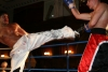 Riyadh Al Azzawifires a hard kick to the mid section of Tomasz Borowiec.
