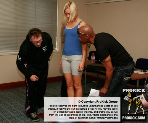 Blizner weighs in for her bout against Ursula Agnew