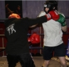 ProKick fighter Gary Fullerton hard in training with team mate Johnny Smith