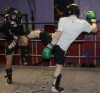 ProKick fighter Johnny Smith hard in training with team mate Steven Forde