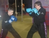ProKick senior members Bailie McClinton and Anne Gallagher team up on the level 1 sparring course first night.