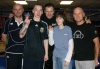 L-R Nigel Carson, Michael Gillespie, Abigail Eadie and Harry Robinson with instructor Billy Murray