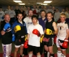 Hiro Mochizuki pictured (centre) with some of the ProKick top fighters  during a sparring class on his visit to Belfast's ProKick