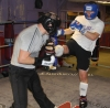 ProKick members Martin Patterson and Russell Johnston sparring on the final evening of ProKick HQ's Level 2 Sparring Class.