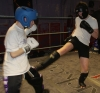 ProKick members Martin Gibson and Michael O'Neill sparring on the final evening of ProKick HQ's Level 2 Sparring Class.